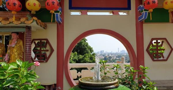 Südostasien 2020 - Penang erreicht - Penang Hill, höher geht es nicht mehr - Keh Lok Si-Tempel, wir kennen noch längst nicht alle Winkel