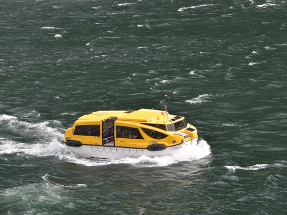 Tenderboot der AIDAsol in Geiranger