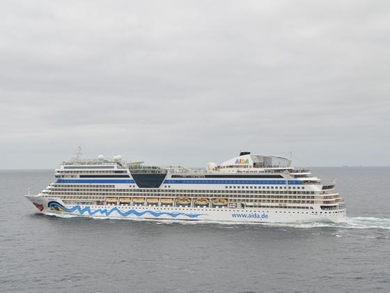 AIDAsol auf der Nordsee