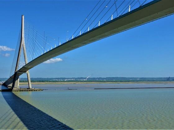 19.09.2020 heute wären wir auf der Seine unter der Pont de Normandie durchgefahren