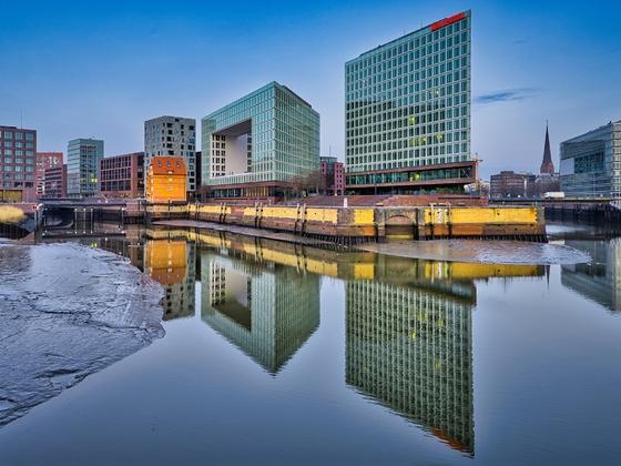 Hamburg an einem Montag Morgen im Februar 2021