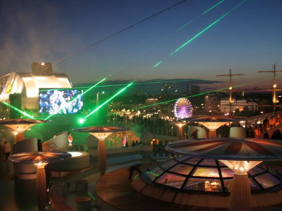 Lasershow zum Hafengeburtstag Hamburg 2013