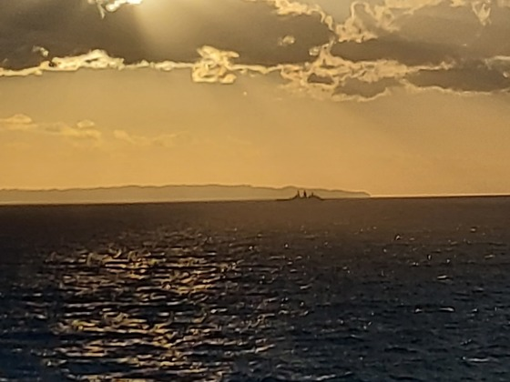 Rückfahrt mit der MS 1 nach Kiel im Juni