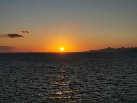 Sonnenuntergang zwischen Fuerteventura und Lanzarote