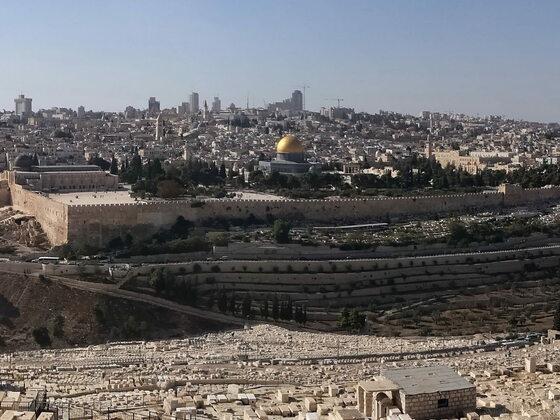 Blick vom Ölberg, Jerusalem. Aidaaura 2017