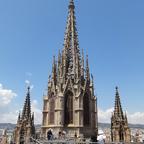 Barcelona. Auf dem Dach der Kathedrale