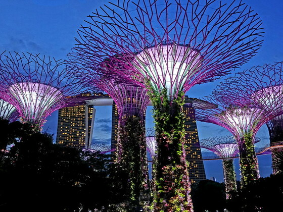 Gardens by the Bay, Singapur.