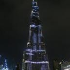 Das Burj Khalifa mit seiner tollen Illumination