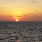 Sonnenuntergang am Äquator