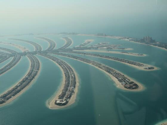 Dubai - Blick von Wasserflugzeug auf die Palme