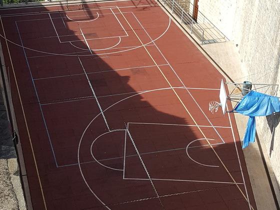 Basketball Platz Dubrovnik Stadtmauer