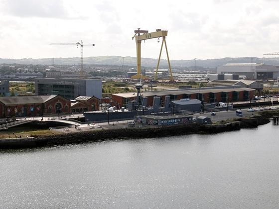 """Harland & Wolff in Belfast, hier wurde die """"Titanic"""" gebaut"""