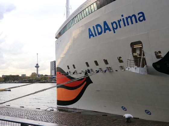 AIDAPrima in Rotterdam