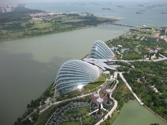 Singapur Impressions - Blick vom Dach des Marina Bay Sands