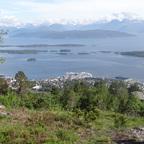 Blick vom Hausberg in Molde auf die Aidasol