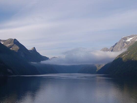 Mein Wunsch: bald wieder das Morgenerwachen im Geirangerfjord erleben