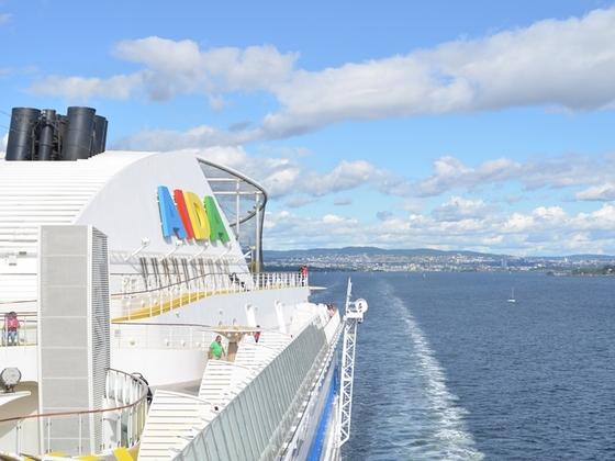 AIDAdiva im Oslofjord