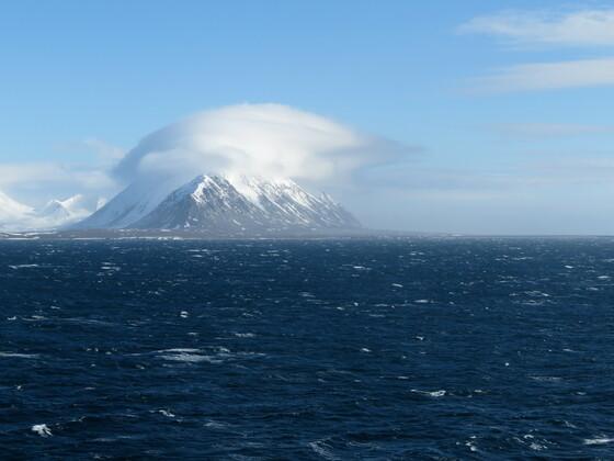 Auslaufen Isfjorden, Spitzbergen mit Aidaaura