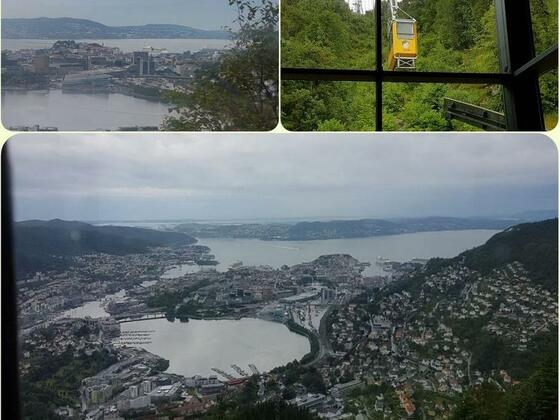 Bergen - Seilbahn auf den Berg Ulriken