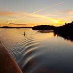 Morgens in den Schären vor Stockholm
