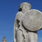 Statue vom keltischen Anführer Breogán