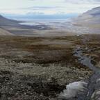 Spitzbergen. Blick von der Radarstation in Richtung Longyearbyen