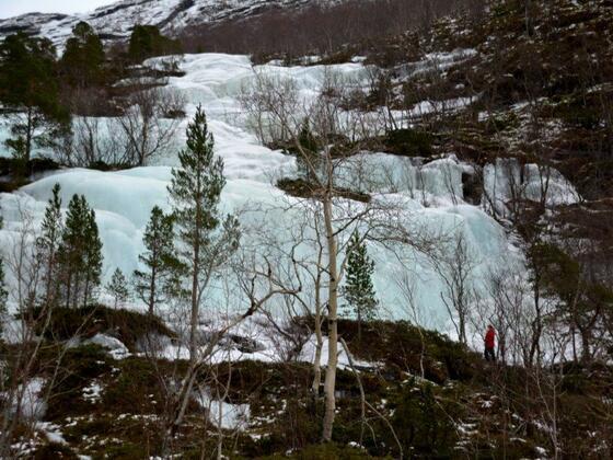 Kein Wasser- sondern ein Eisfall