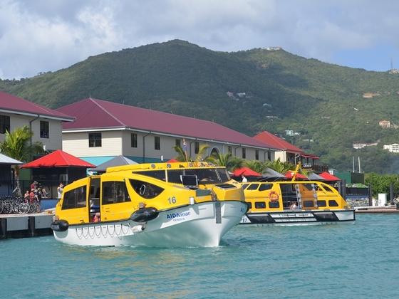 Tenderboote der AIDAmar in Road Town