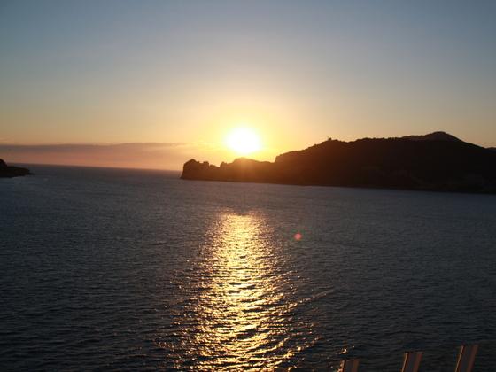 Sonnenuntergang bei Cannes