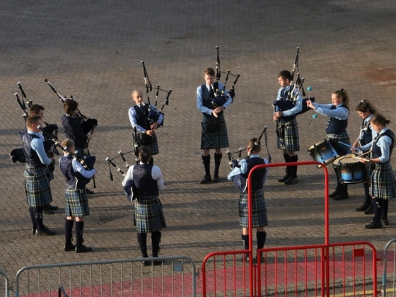 The Pipes & Drums of Invergordon