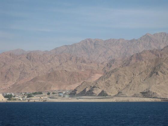 Anfahrt auf Aqaba
