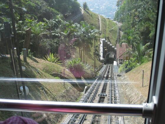 Penang - Blick aus der Standseilbahn