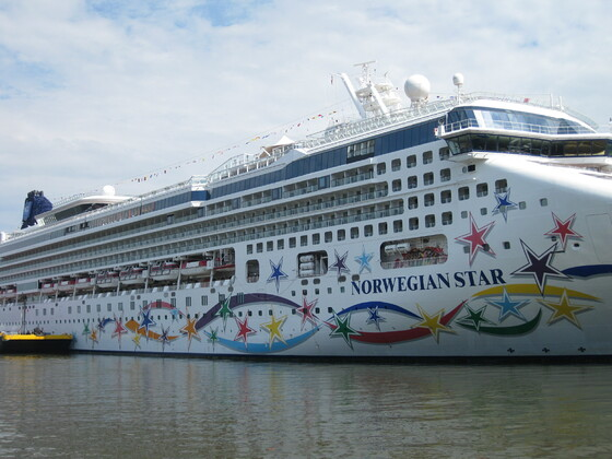 Norwegian Star in Manhatten