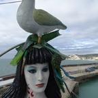 """Die """"Schöne"""" hat einen Vogel  :o) , AIDAvita, im Hafen von Dover"""