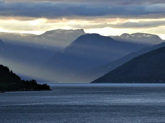 Abendstimmung auf dem Sognefjord