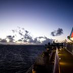 Phantastische Morgendämmerung auf AIDALuna / Karibik