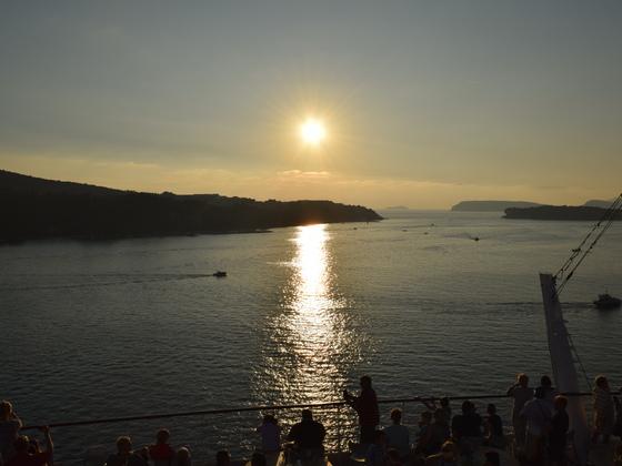 AIDAbella Ausfahrt aus Dubrovnik am 19.10.2017