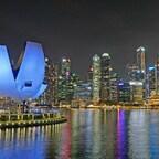 Singapur am Abend.
