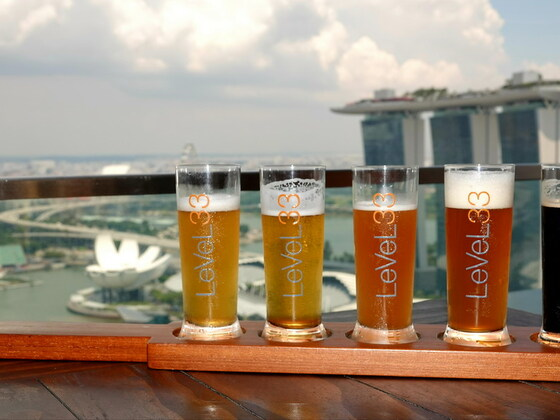 Singapur - LeVeL33 - Das Bier