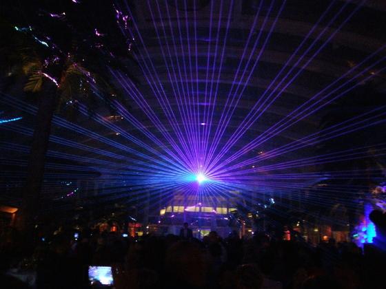 Lasershow - Beachclub AIDAperla