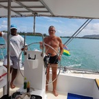 Einmal Kapitän auf einem Katamaran in  Mauritius