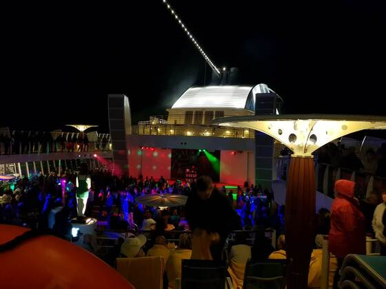 Party am Abend des Auslaufens Richtung Norwegen