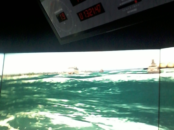 Aida Blu - Flensburger Förde 02.06.2019 um 14:20 - Achtung Schiff-Simulator der Marine