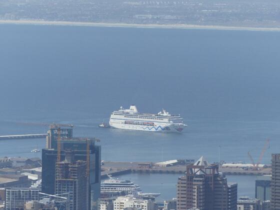 AIDAmira in Kapstadt