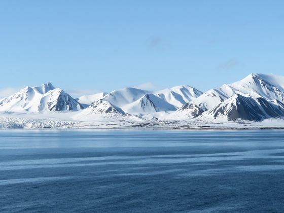 Isfjorden, Auslaufen Spitzbergen mit Aidaaura