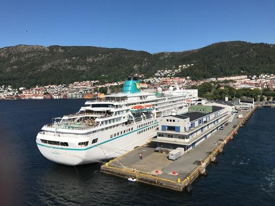 """Das """"Traumschiff"""" sorgte in Bergen für Traumwetter"""