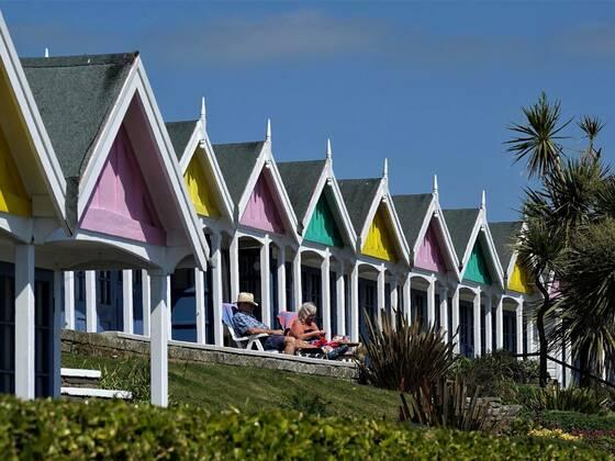 Weymouth, die ersten Sonnenstrahlen im Mai vor der Sasioneröffnung