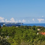Die Mein Schiff 6 heute morgen in Visby