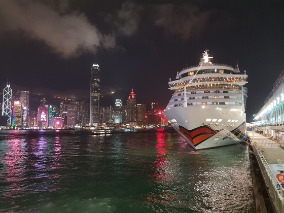 AIDAbella am 07.04.2019 in Hongkong