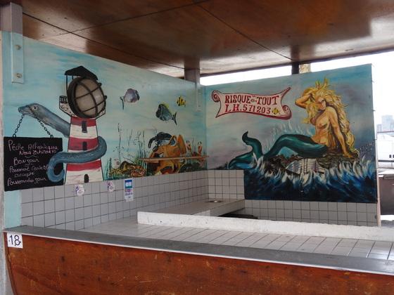 """Le Havre, Fischmarkt - """"Transe"""" mit der """"Diva"""" von Teneriffa nach Warnemünde."""